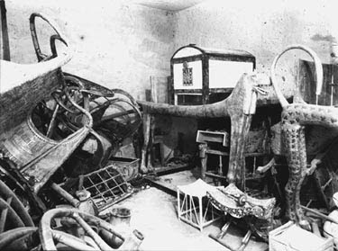 The ante chamber of King Tutankhamen's tomb was jumbled with objects the young king might need in his afterlife.