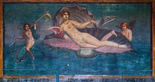 Aphrodite Anadyomene by encaustic master, Apelles, Pompeii.