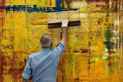 The real Gerhard Richter at work.